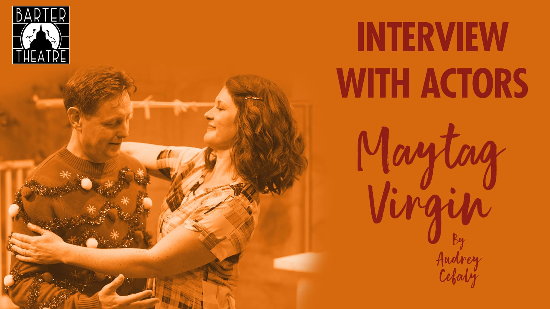 Title card for Maytag Virgin with the actors, Wendy Piper and Nicholas Piper