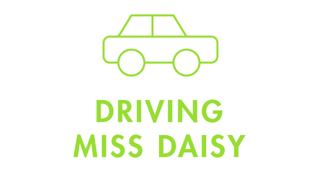 Driving Miss Daisy with Car Icon