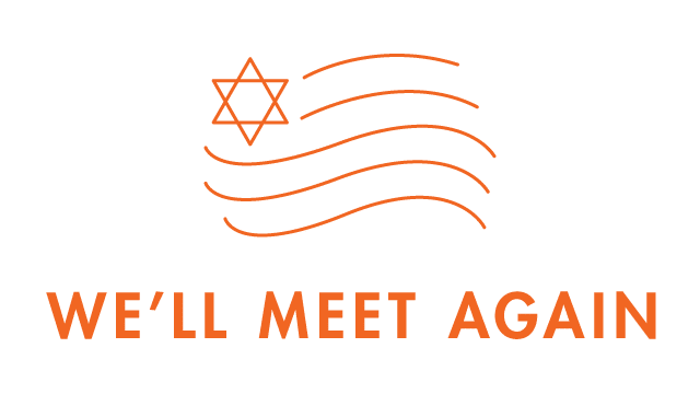 We'll Meet Again with US flag icon with Jewish Star in upper left