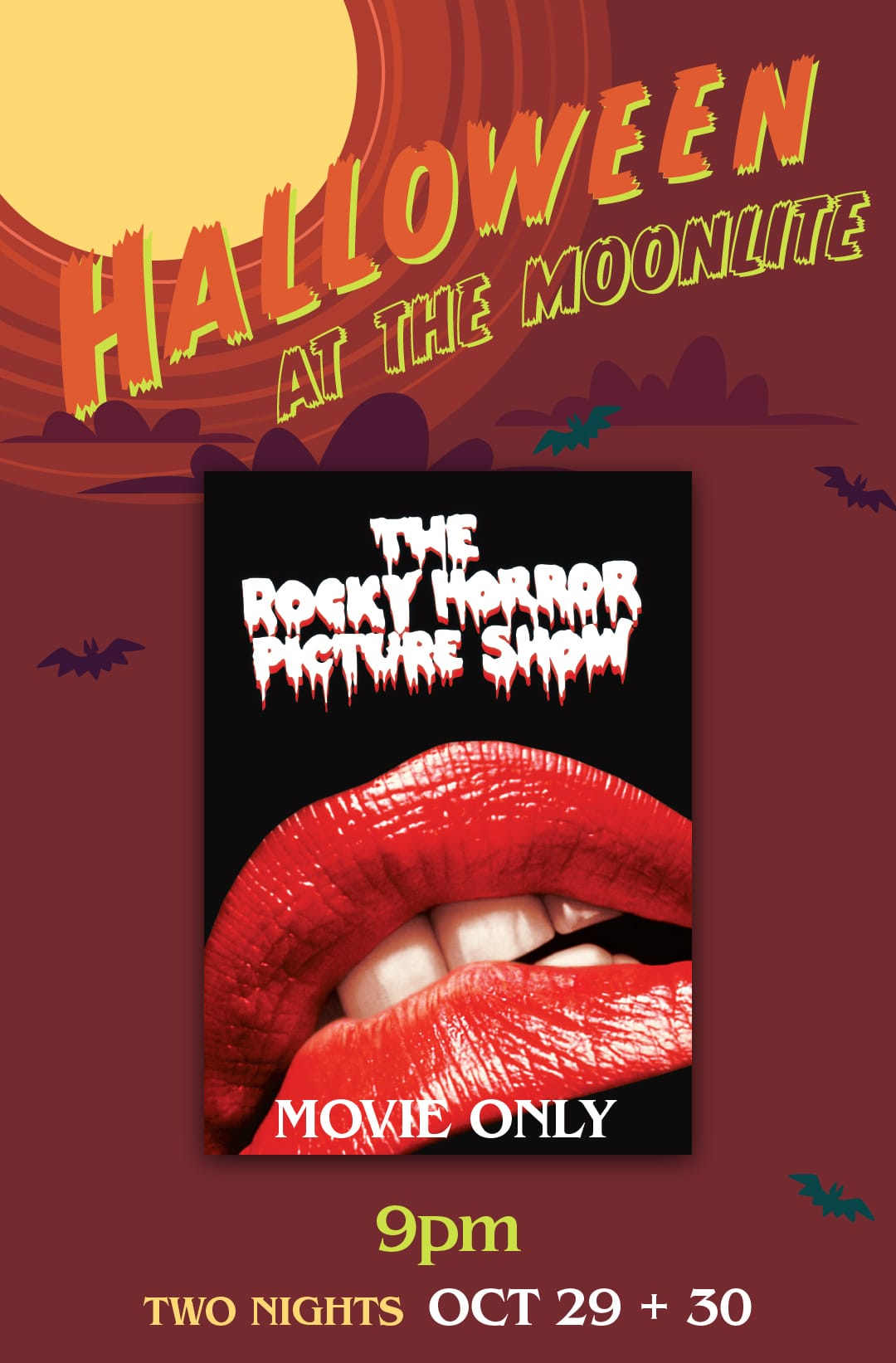 The Rocky Horror Picture Show Halloween at the Moonlite